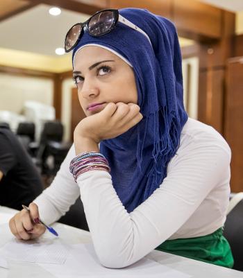 Workshop-Teilnehmerin